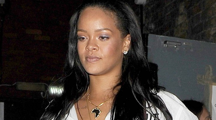 Rihanna enjoys a night out in London