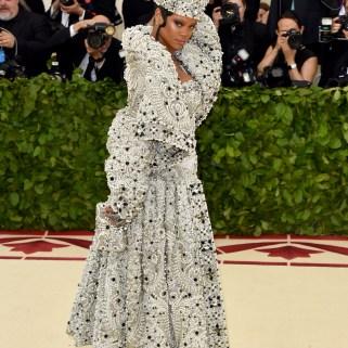 Rihanna attends 2018 Met Gala in New York on May 7, 2018 Inside