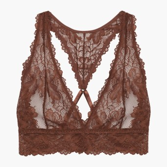 Rihanna Savage x Fenty Lace Bralette Brown Sugar