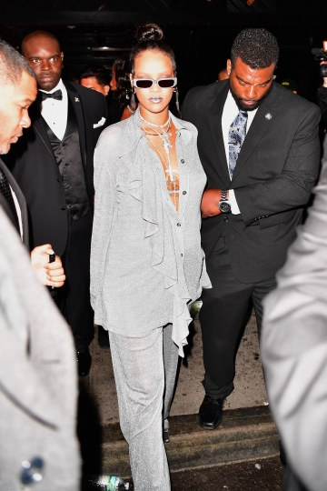 Rihanna glitters at MET Gala after party on May 8, 2018