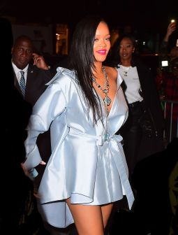 Rihanna arrives at Clara Lionel Foundation benefit on June 6, 2018 Stance