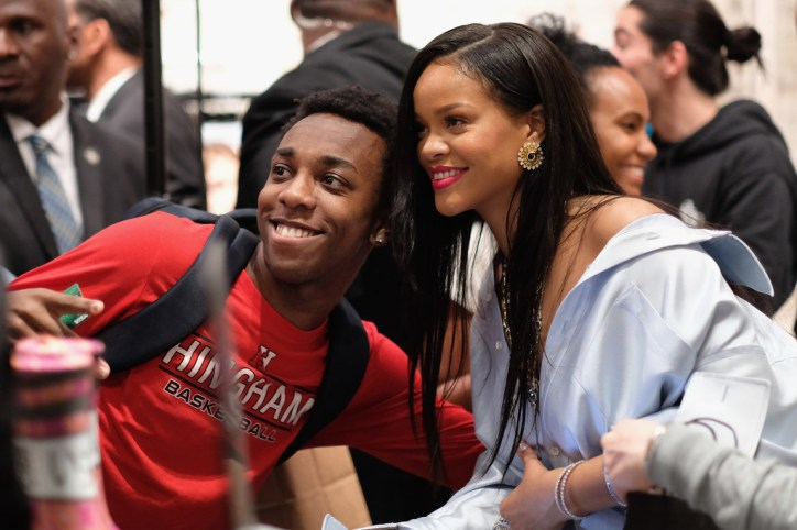 Rihanna at Clara Lionel Foundation benefit in New York on June 6, 2018 fans