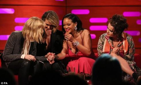 Rihanna and Ocean's 8 take over The Graham Norton Show on June 14, 2018 Sarah Paulson