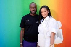 Rihanna attends Louis Vuitton fashion show in Paris on June 21, 2018 Virgil Abloh x Fenty