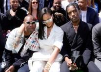 Rihanna attends Louis Vuitton fashion show in Paris on June 21, 2018 front row A$AP Rocky