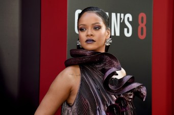 Rihanna attends Ocean's 8 world premiere on June 5, 2018 New York Sarah Paulson