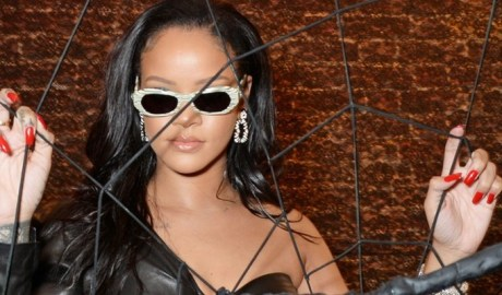Rihanna visits Savage x Fenty pop up shop in London on June 15, 2018