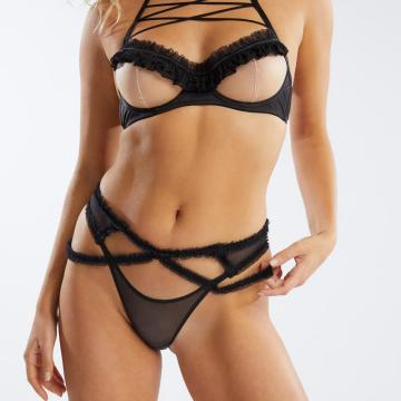 Rihanna Savage x Fenty Low Rise Open Bikini Body Front