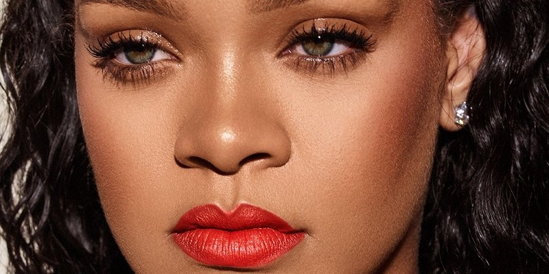 Rihanna in promotional photo for Mattemoiselle Tiger Tini lipstick