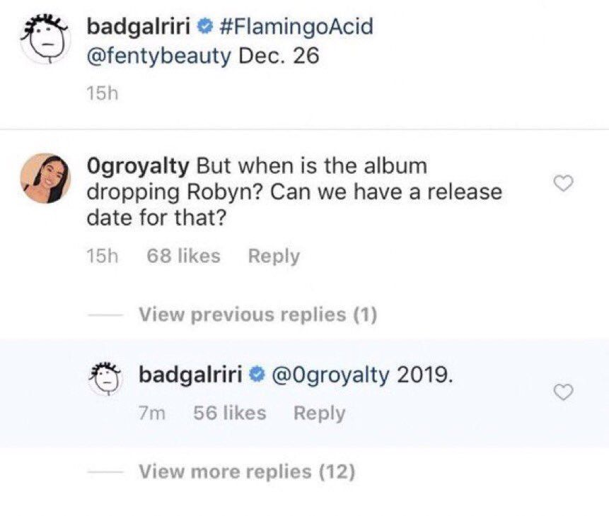 Rihanna confirms new album to come out in 2019