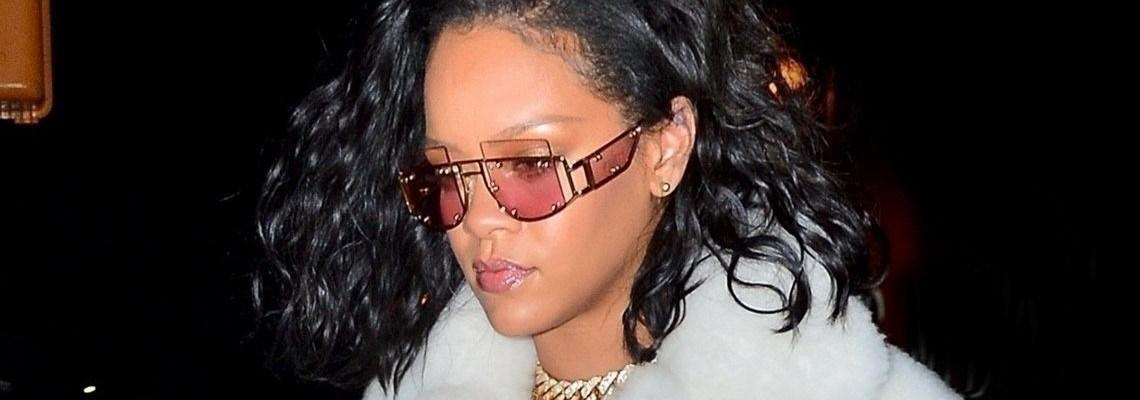 Rihanna steps out in $12K coat