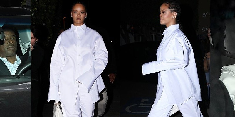 Rihanna at Giorgio Baldi restaurant in Los Angeles on March 14, 2019