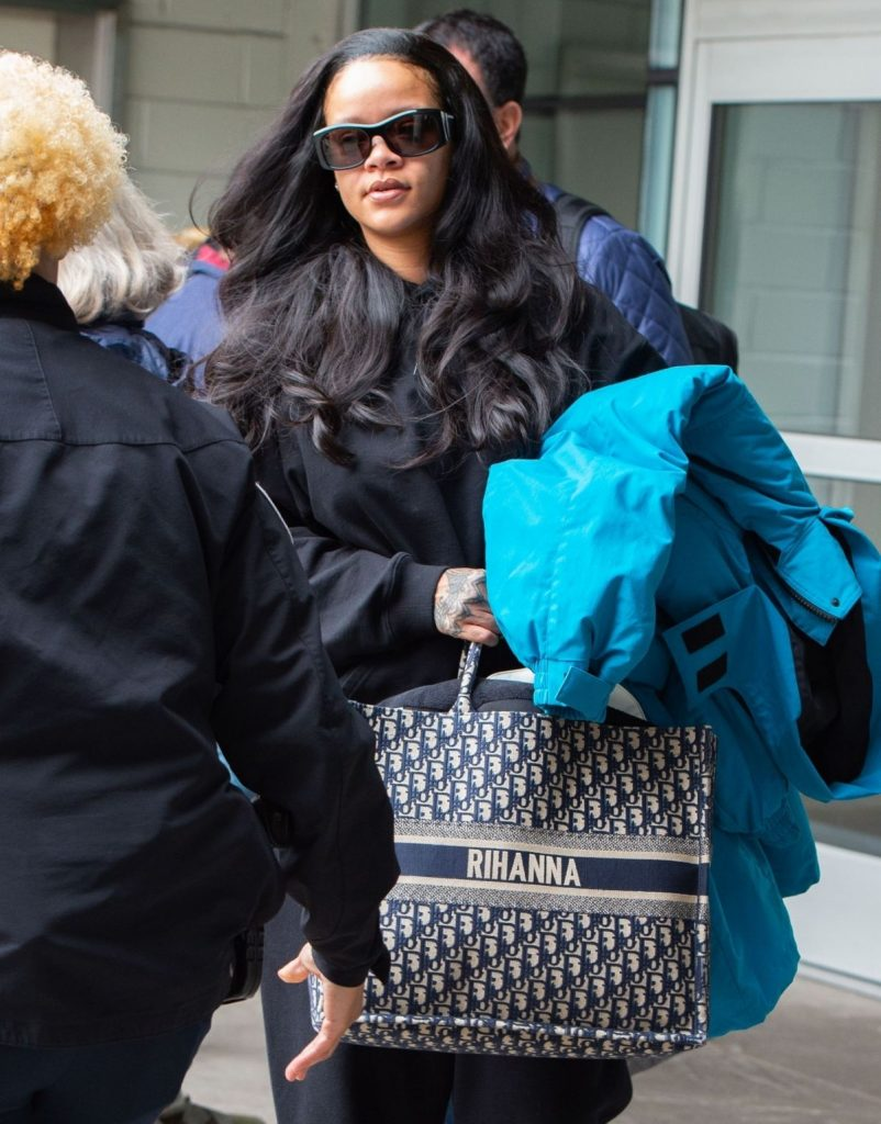 Rihanna arrives in New York on April 12, 2019