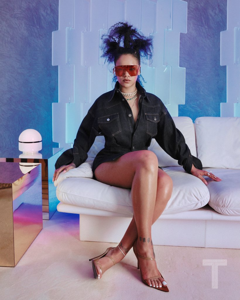 Rihanna in FENTY Maison clothes for T Magazine