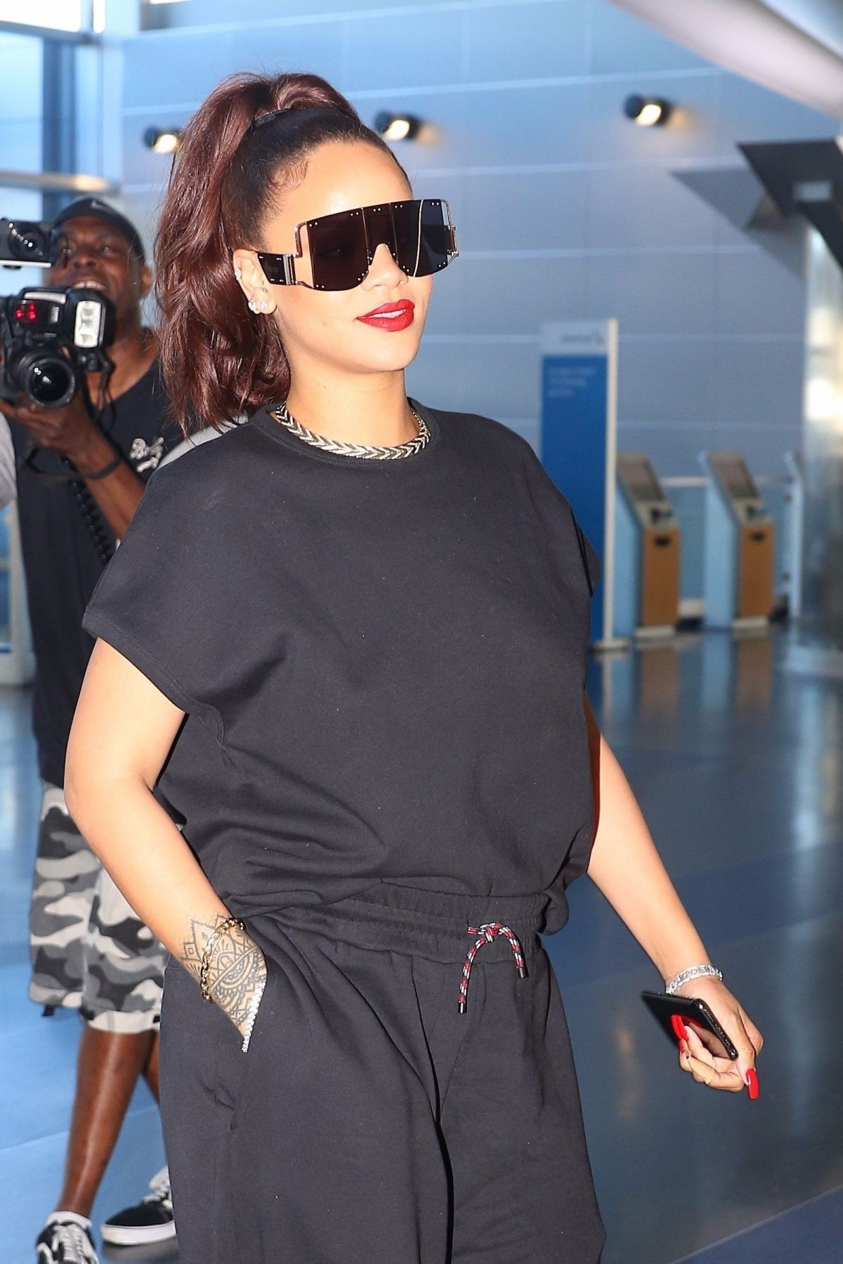 Rihanna at JFK Airport on June 12, 2019