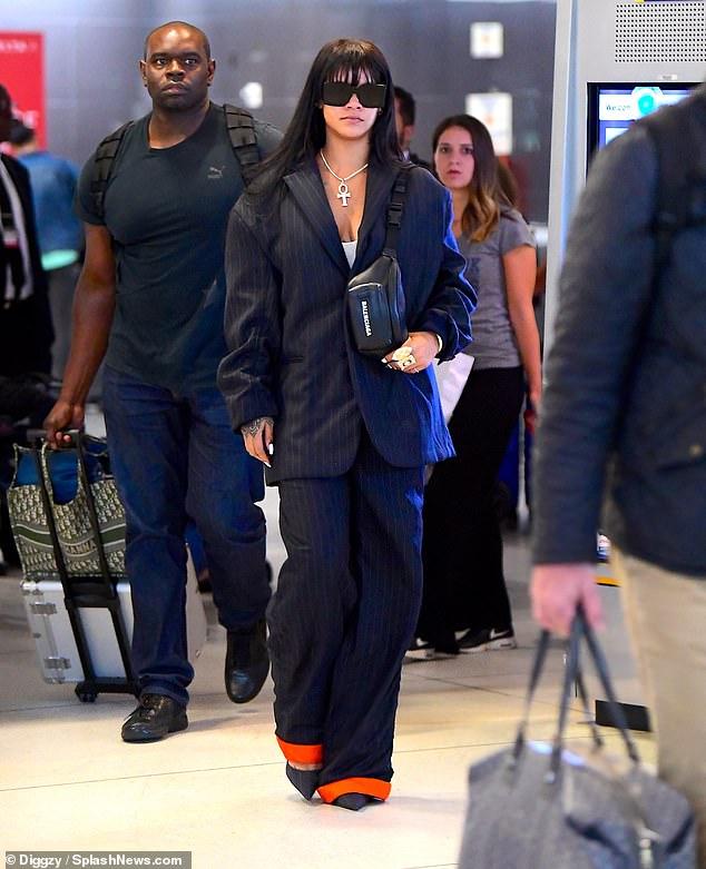 Rihanna arrives in New York on September 28, 2019