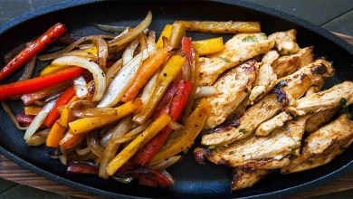 How to make Fajita whith grilled vegetables step by step?