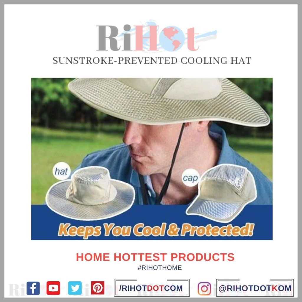 Sunstroke-Prevented Cooling Hat features & video review