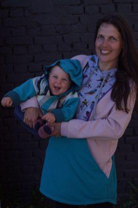 õmbleme lastejakid käsitööna imetamiskleitidest üle jäänud riidejääkidest