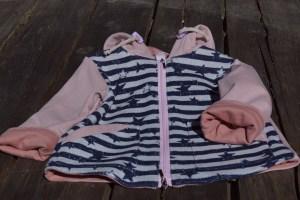 mugav puuvillase voodriga suvejakk Mia 9-12 kuusele tüdrukule
