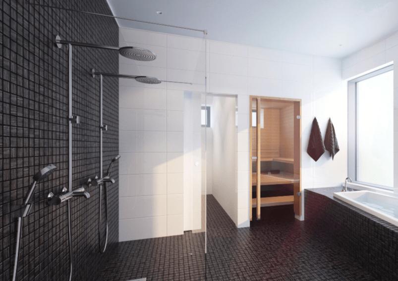 bath-mustavalkoinen