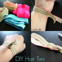 DIY Hair Ties - hårelastikker