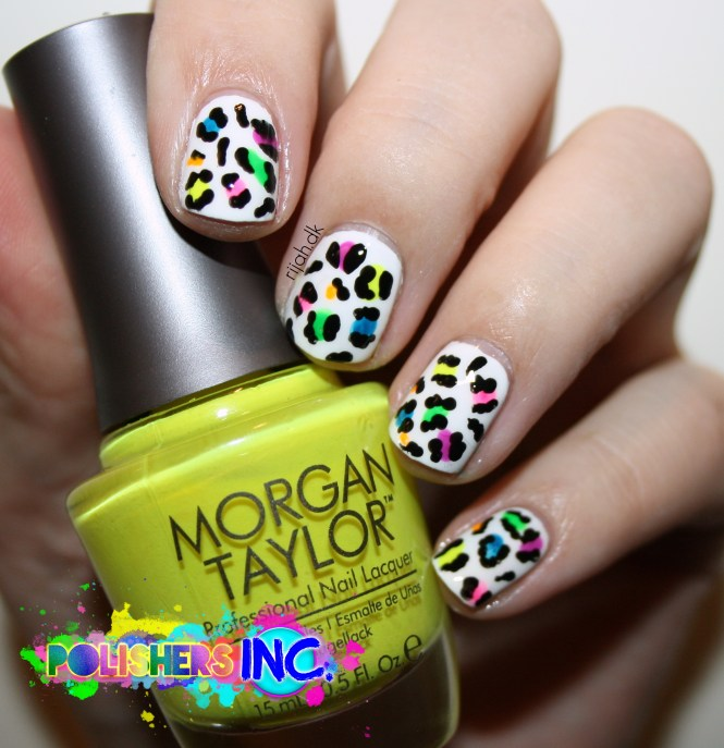 Polishers Inc - Safe and sound Neon Leo nails