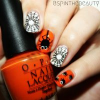 Fancy Friday - Halloween nail art