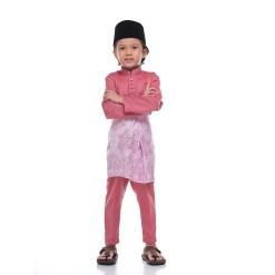 Baju Melayu Kids DUSTY PINK - Rijal & Co 03