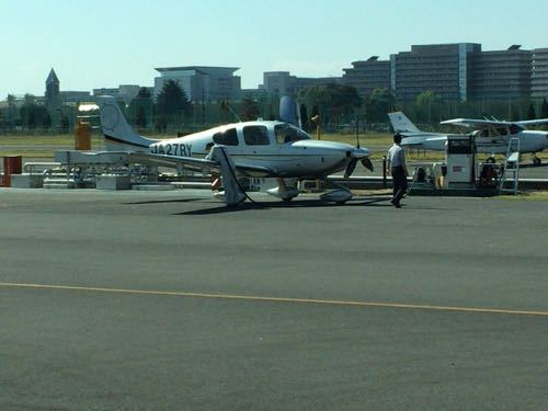 調布飛行場 燃料補給