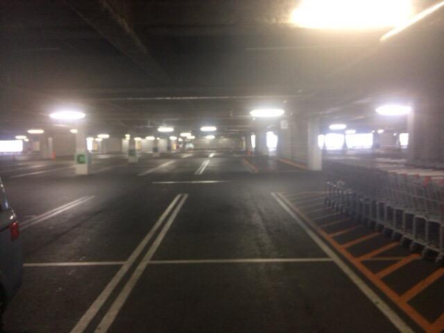 コストコの駐車場