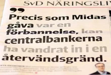 Försättsbild till artikeln: Är Stefan Ingves en modern Kung Midas? - Mycket läsvärd krönika av SvD:s Anders Cervenka