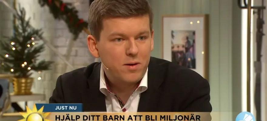 Försättsbild till artikeln: Intervjuad i TV4 om att spara till barnen på bästa sätt - Att spara till barnen handlar lika mycket om att lära dem fiska som att ge dem fisken...