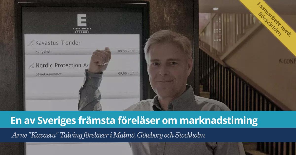 """Försättsbild till artikeln: En av Sveriges främsta investerare föreläser om marknadstiming - Arne \""""Kavastu\"""" Talving föreläser i Malmö, Göteborg och Stockholm"""