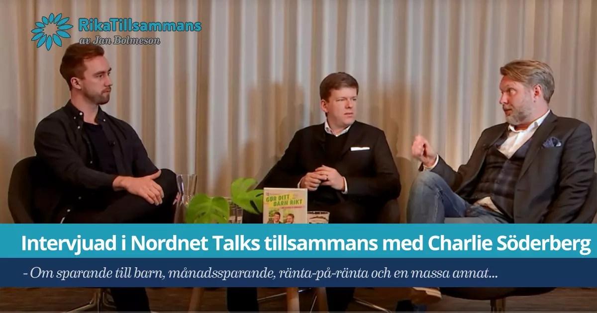 Jan Bolmeson och Charlie Söderberg på Nordnet Talks