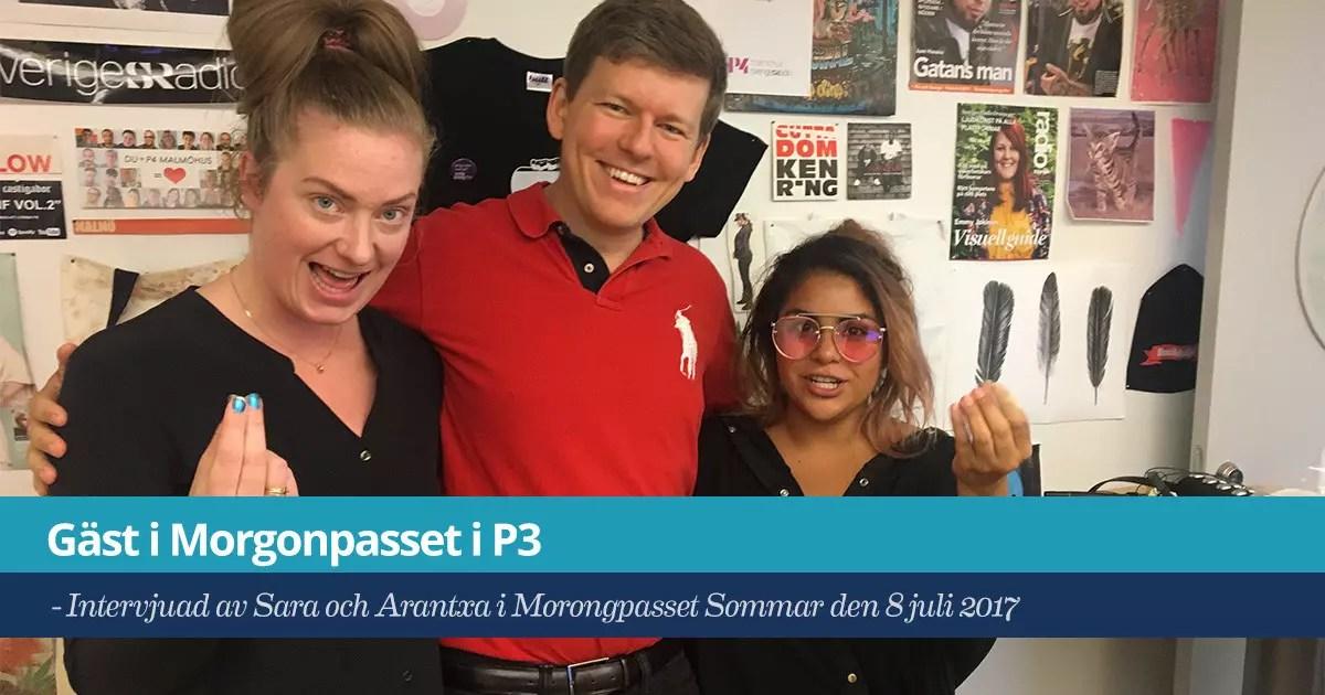 Försättsbild till artikeln: Gästar Morgonpasset i P3 - Deltar i Sveriges Radio kl. 09:00 imorgon lördag den 8 juli...