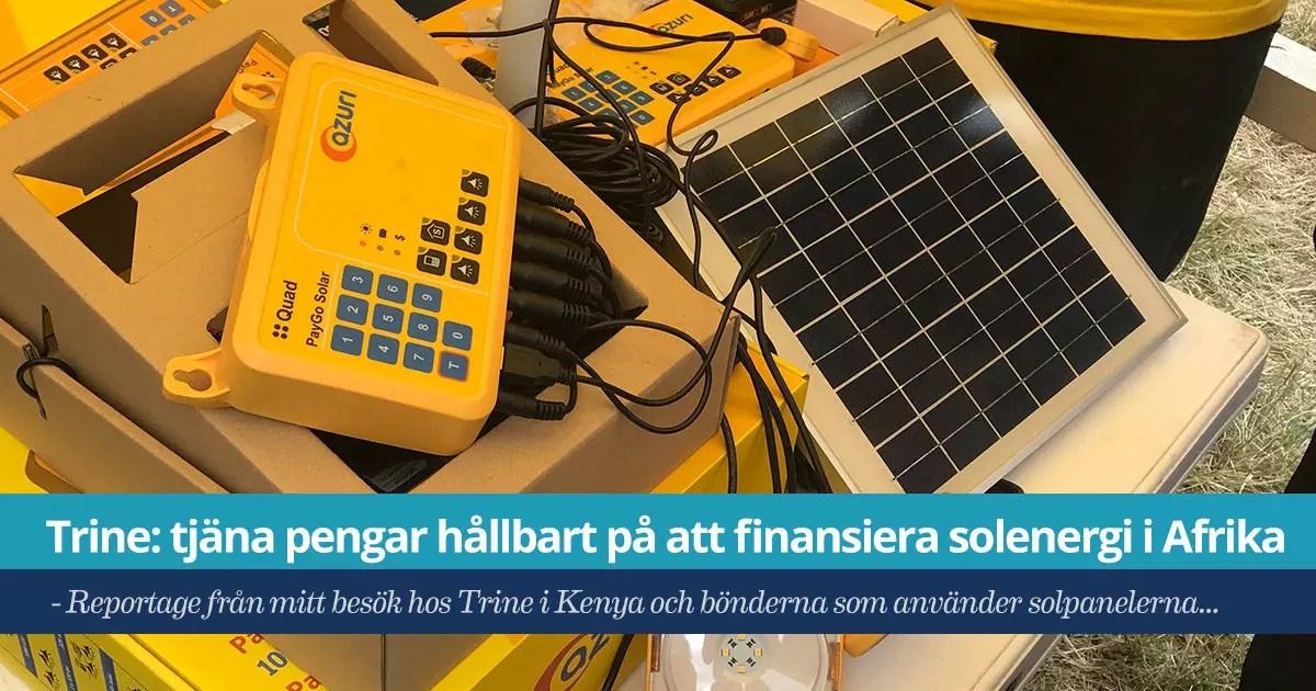 Trine - spara i solenergi - mitt reportage