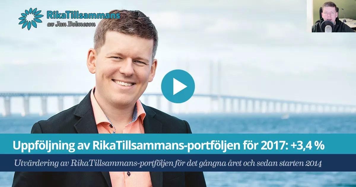 RikaTillsammans-portfoljen uppföljning 2017