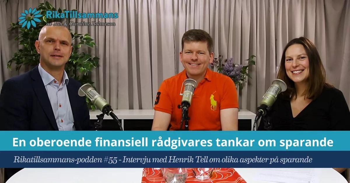 Henrik Tell - En oberoende finansiell rådgivare om sparande