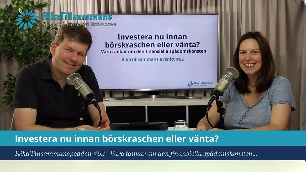 18ea677f780 Investera nu eller efter börskraschen? | Om finansiell spåkonst...