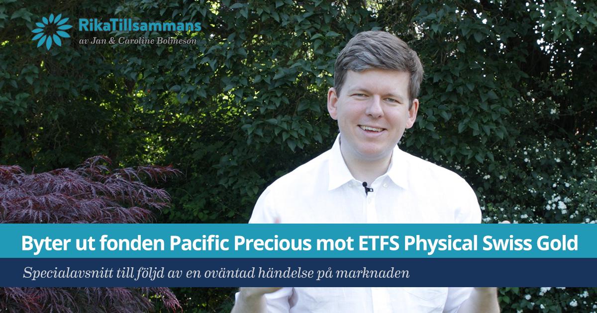 Försättsbild till artikeln: Byter ut fonden Pacific Precious mot ETFS Physical Swiss Gold - Byter till den börshandlade fonden ETFS Physical Swiss Gold (GZUR)