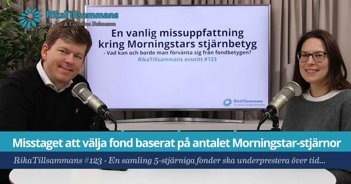 Misstaget med att välja fond baserat på antalet Morningstarstjärnor