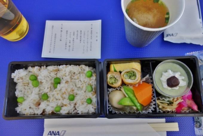 NH2158便の機内食