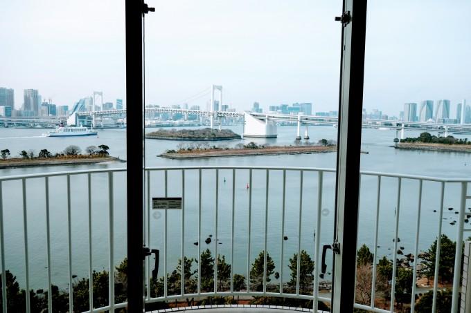 ヒルトン東京お台場エグゼクティブルームからの眺め