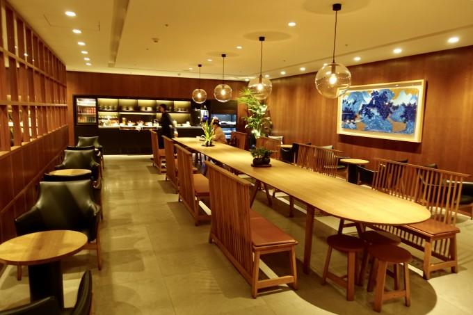 桃園国際空港 4階 キャセイパシフィック航空ラウンジ フードホール