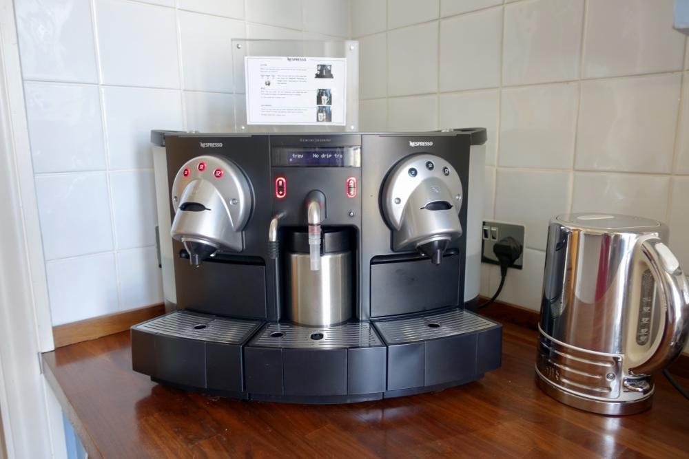グレートノーザンホテル・パントリーのコーヒーマシーン