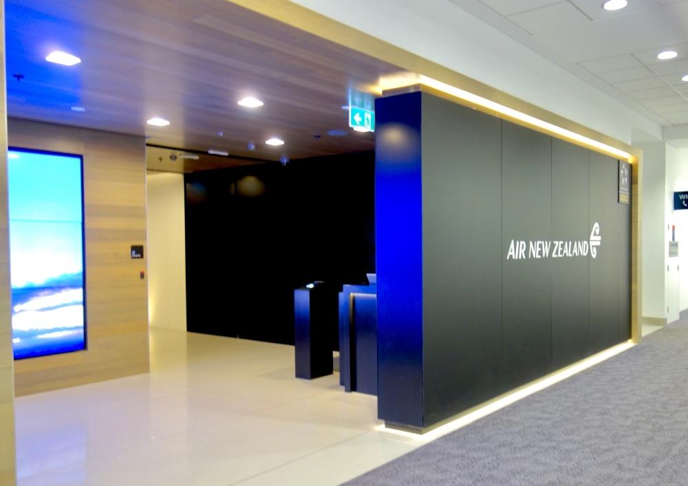 シドニー国際空港ニュージーランド航空ラウンジエントランス