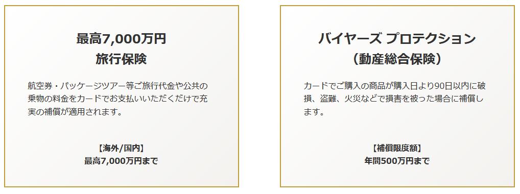 SuMi TRUST CLUB リワードワールドカードに付帯する保険