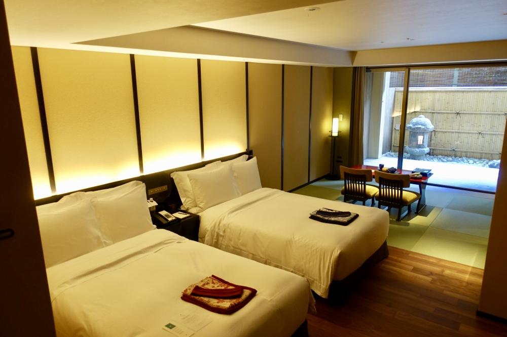 翠嵐ラグジュアリーコレクションホテル京都柚葉ベッドルーム