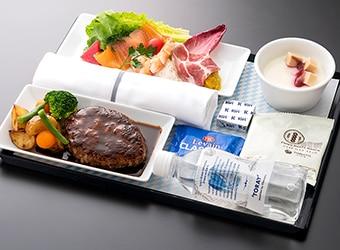 ANAハワイ線A380のプレミアムエコノミー機内食